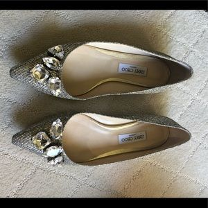 Jimmy Choo!  Perfect flat with crystals - amazing!